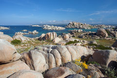 Lavezzi Islands with blue sky, Corsica, France Stock Photos