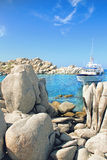 Lavezzi islands rocky coastline Stock Photos