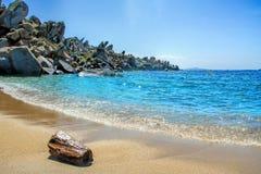 Lavezzi islands rocky coastline Stock Image