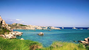 Lavezzi islands rocky coastline Royalty Free Stock Images