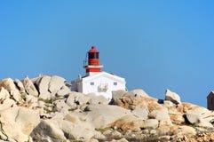 Lavezzi latarnia morska, Corsica, Francja Zdjęcia Stock