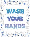 Lavi le vostre bolle delle mani Fotografie Stock