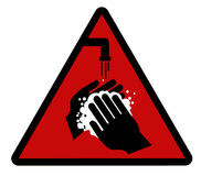 Lavi le vostre mani! Fotografie Stock Libere da Diritti