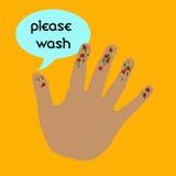 Lavi le vostre mani illustrazione vettoriale