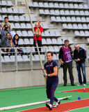 Lavillenie Renaud on DecaNation International Outdoor Games Stock Photography