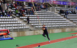 Lavillenie Renaud on DecaNation International Outdoor Games Royalty Free Stock Image