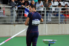 Lavillenie Renaud on DecaNation International Outdoor Games Royalty Free Stock Images