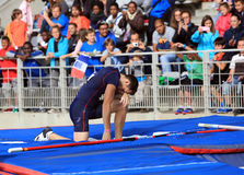 Lavillenie Renaud on DecaNation International Outdoor Games Royalty Free Stock Photo