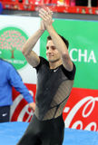 Lavillenie Renaud wins men's competition Stock Images