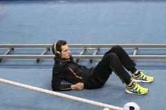 Lavillenie Renaud wins men's competition Stock Photo