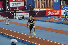 Lavillenie Renaud wins men's competition Stock Image