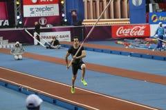 Lavillenie Renaud wins men's competition Stock Image