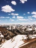 Lavinmaximum, berg i Yellowstone Royaltyfri Foto