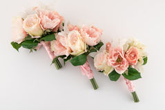 Lavish Blush and Cream Bouquets Royalty Free Stock Image