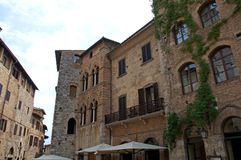Lavish Medieval architecture of San Gimignano, Italy Royalty Free Stock Image