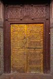 Lavishly decorated door. Marrakesh . Morocco Royalty Free Stock Images