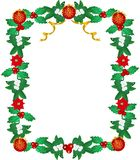 Lavishly garnished Seasonal Frame Royalty Free Stock Photo