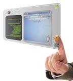 Lavorando al ridurre in pani dello schermo attivabile al tatto Fotografia Stock Libera da Diritti
