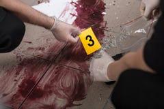 Lavorando alla scena del crimine fotografia stock libera da diritti