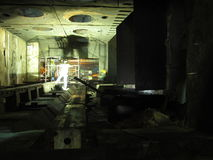 Lavorando dentro il forno Fotografia Stock Libera da Diritti