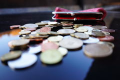 Lavorando per i penny Fotografia Stock Libera da Diritti