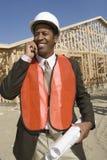 Lavoratore afroamericano felice  immagini stock libere da diritti