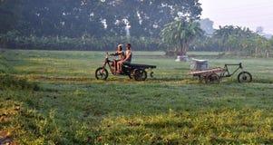 Lavoratore agricolo nel villaggio Fotografia Stock Libera da Diritti