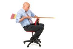Lavoratore che jousting Fotografie Stock