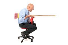 Lavoratore che jousting Fotografie Stock Libere da Diritti