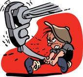 Lavoratore che stringe bullone con la chiave Immagine Stock Libera da Diritti