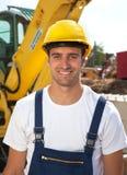 Lavoratore, costruttore, costruzione, bulldozer, costruzione, constructionist, costruzione del costruttore, costruzione di edifici Fotografia Stock