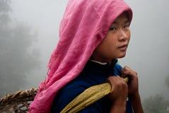 Lavoratore del giardino di tè di Lepcha Immagini Stock Libere da Diritti
