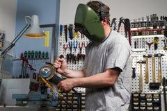 Lavoratore del metallo Fotografia Stock Libera da Diritti