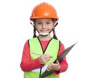 Lavoratore dell'industria della bambina fotografia stock