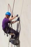 Lavoratore di elevata altitudine fotografia stock libera da diritti