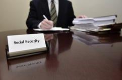 Lavoratore di sicurezza sociale Fotografia Stock