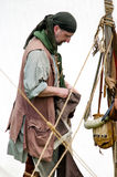 lavoratore 1700 e cacciatore di pelli Fotografia Stock