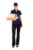 Lavoratore femminile di consegna Immagini Stock Libere da Diritti