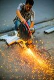 Lavoratore a Hanoi Immagini Stock