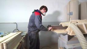 Lavoratore industriale del carpentiere stock footage