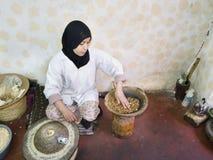 Lavoratore, Marrakesh, Marocco Fotografia Stock Libera da Diritti