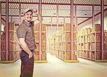 Lavoratore in servizio Fotografia Stock Libera da Diritti
