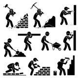 Lavoratori dei costruttori dei costruttori che costruiscono clipart delle Camere royalty illustrazione gratis