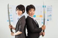 Lavoratori del samurai Fotografia Stock