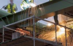 Lavoratori dell'industria siderurgica fotografia stock