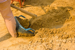 Lavoratori della sabbia. Fotografia Stock