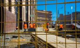 Lavoratori della via Fotografie Stock