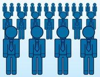 Lavoratori di affari multipli illustrazione vettoriale