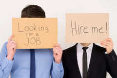 Lavoratori di disoccupazione. Immagine Stock