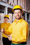 Lavoratori in magazzino Immagini Stock Libere da Diritti